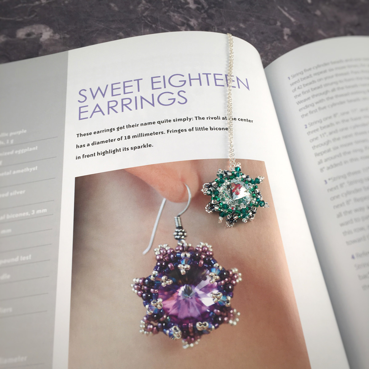 sabine lipperts beaded fantasies - sweet eighteen earrings and pendant