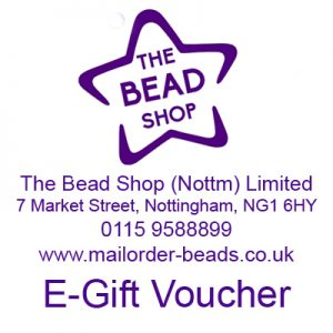 Bead shop Nottingham gift vouchers