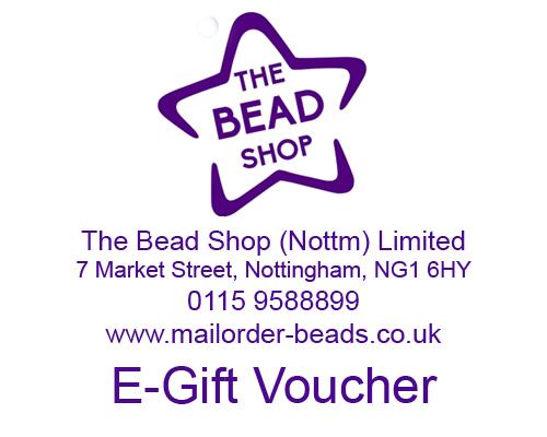 Bead shop Nottingham gift vouchers