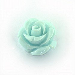 pale turquoise acrylic rose 15mm