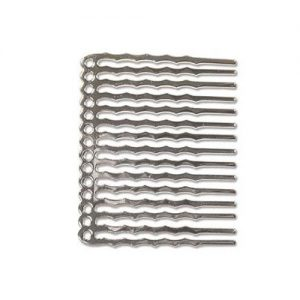 14 Hole Hair Comb Silver Plated