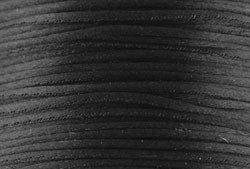 1mm Black Satin Cord (Rattail)