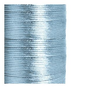 1mm Light Blue Satin Cord (Rattail)
