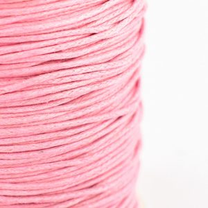 1mm wax cotton cord pink