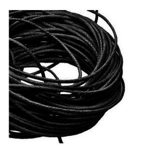 1mm Waxed Cotton Cord Black - 1m