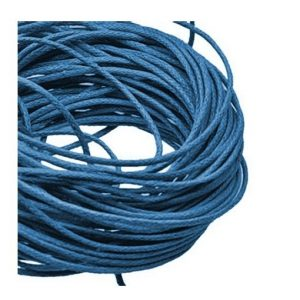 1mm Waxed Cotton Cord Blue - 1m