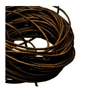 1mm Waxed Cotton Cord Dark Brown - 1m