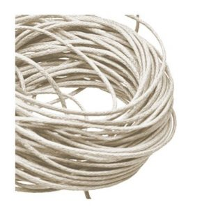 1mm Waxed Cotton Cord Natural - 1m