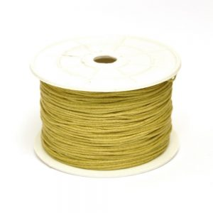 1mm Waxed Cotton Cord Olive Brown*