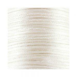 1mm White Satin Cord (Rattail)