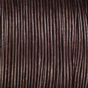 1mm Dark Brown Round Leather Cord