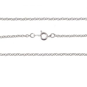 24 inch Curb Chain Silver Plated