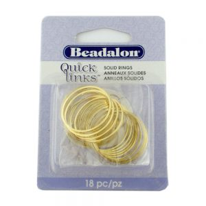 Quicklink Large Round Gold Plated