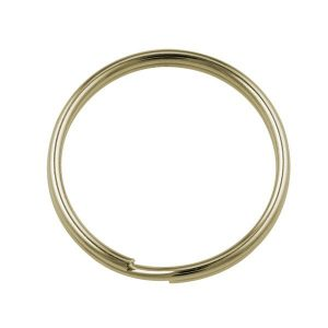 25mm Split Rings Gold Plated