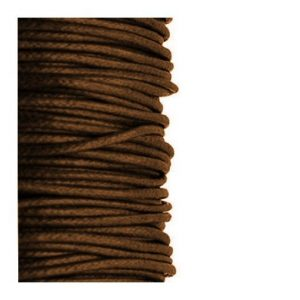 2mm Waxed Cotton Cord Dark Brown - 1m
