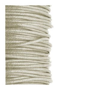 2mm Waxed Cotton Cord Natural - 1m