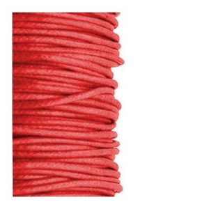 2mm Waxed Cotton Cord Red - 1m
