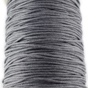 2mm Waxed Cotton Cord Grey