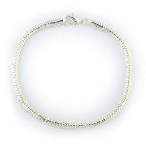 Snake Chain Bracelet - 7.5 inches - Silver Plated