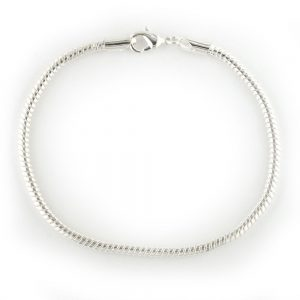 Snake Chain Bracelet - 8.25 inches Silver Plated