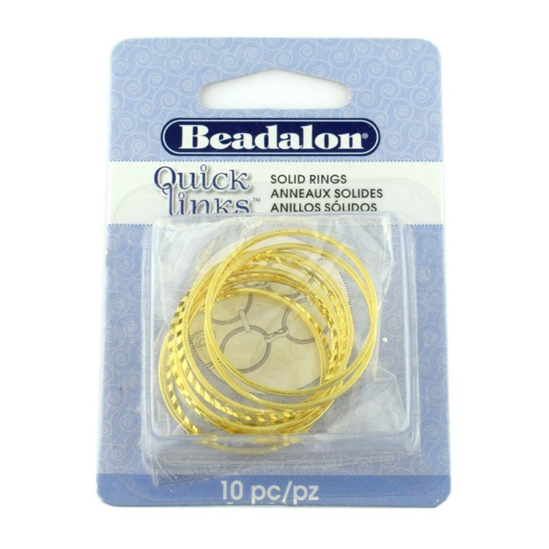 Quicklink Diamond Cut Extra Large Round Gold Plated