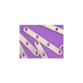 Spacer Bar - 4 Hole Silver Plated*