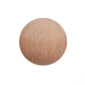 40mm plain natural wooden bead