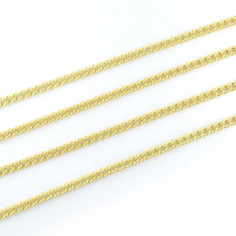 Small Curb Chain Gold Plated 4x3mm