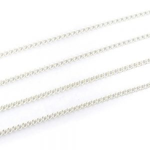 Small Curb Chain Silver Plated 4x3mm