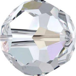 Swarovski crystal bead - classic 5000 crystal 8mm crystal ab