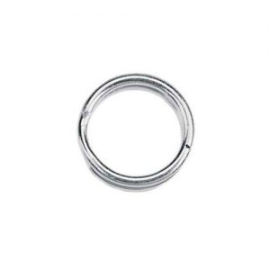 5mm Split Rings Silver Plated