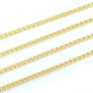 Medium Curb Chain Gold Plated 6.5x4.5mm