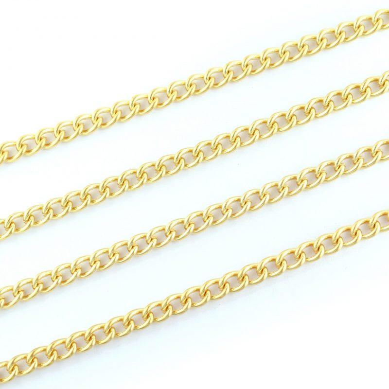 Medium Curb Chain Gold Plated 6.5x4.5mm