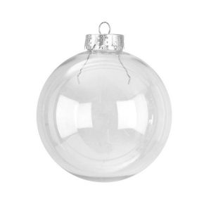 67mm Clear Shatterproof Glass Effect Bauble