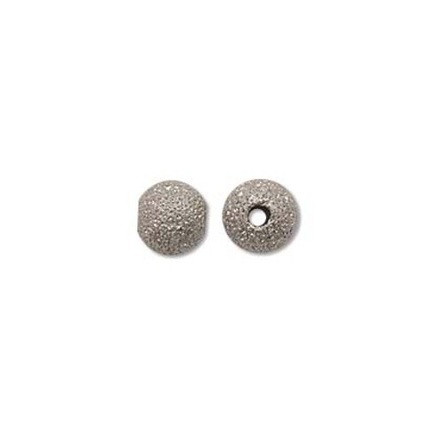6mm Stardust Sparkle Bead Silver Plated