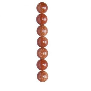 6mm goldstone round semi-precious gemstone beads