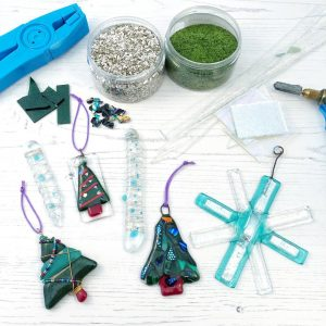 Join us for our Fused Glass festive decorations