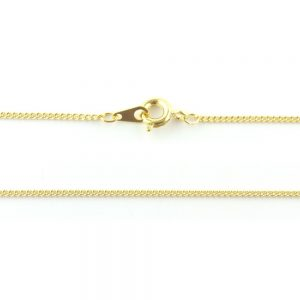 18 inch Fine Curb Chain Gold Plated