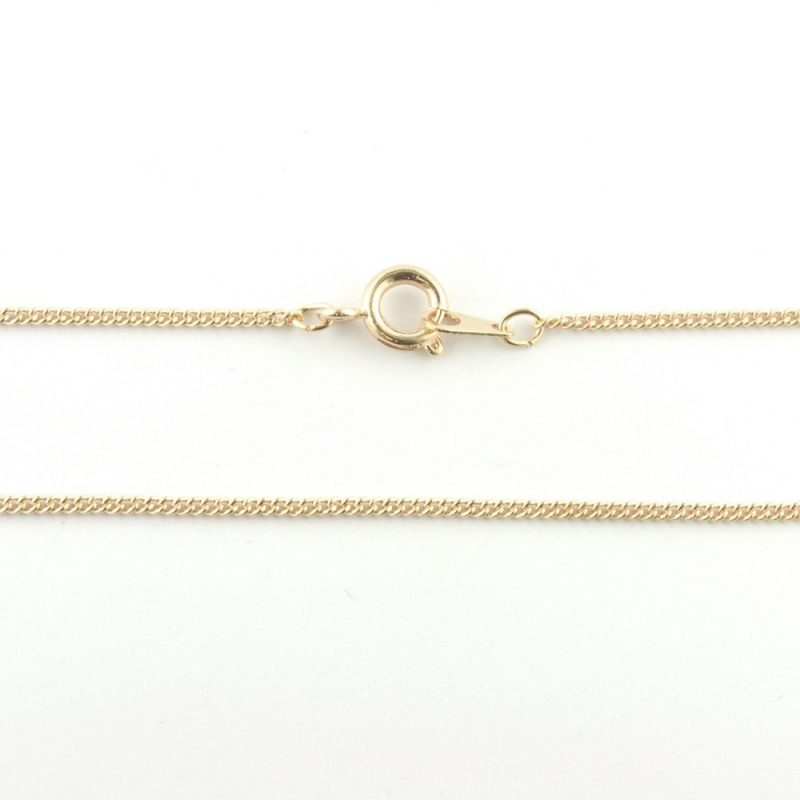 18 inch Fine Curb Chain Rose Gold Plated