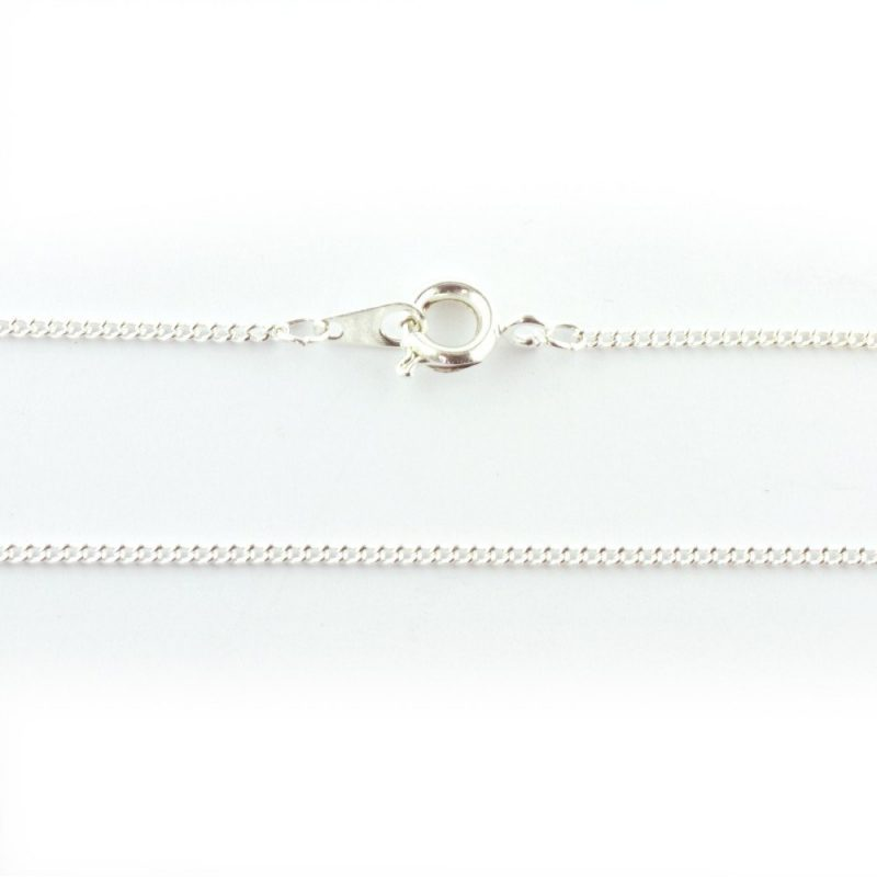 18 inch Fine Curb Chain Silver Plated