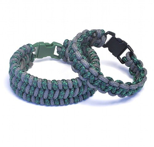 Paracord Bracelets Kit Forest Green and Grey