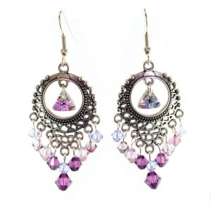Swarovski Elements Lilac Boho Earrings Kit