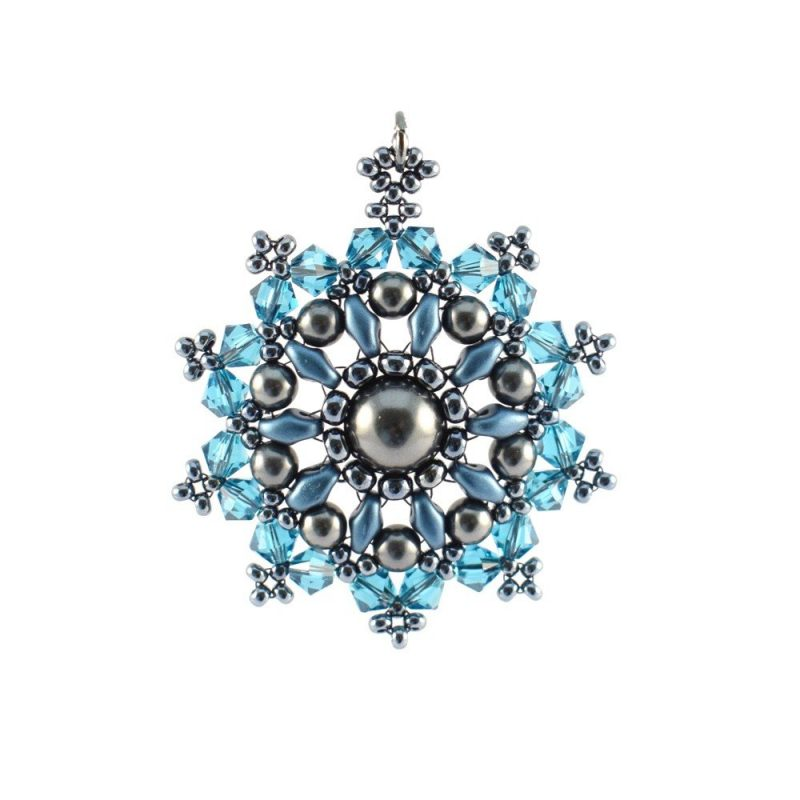Mandala Pendant Necklace Kit - Classic Teal