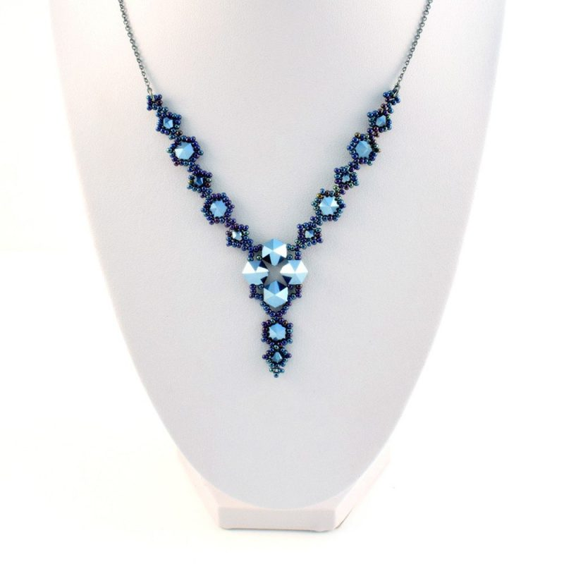 Swarovski Hexi Necklace Kit in the Midnight (Blue) colourway