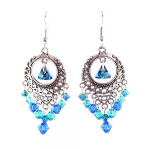 peacock boho earrings kit