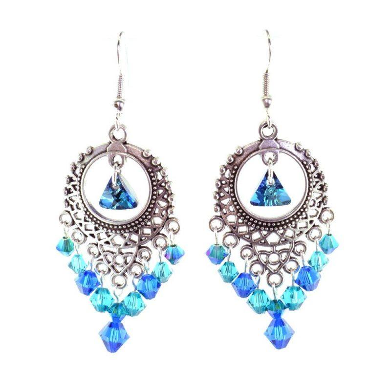 peacock boho earrings kit