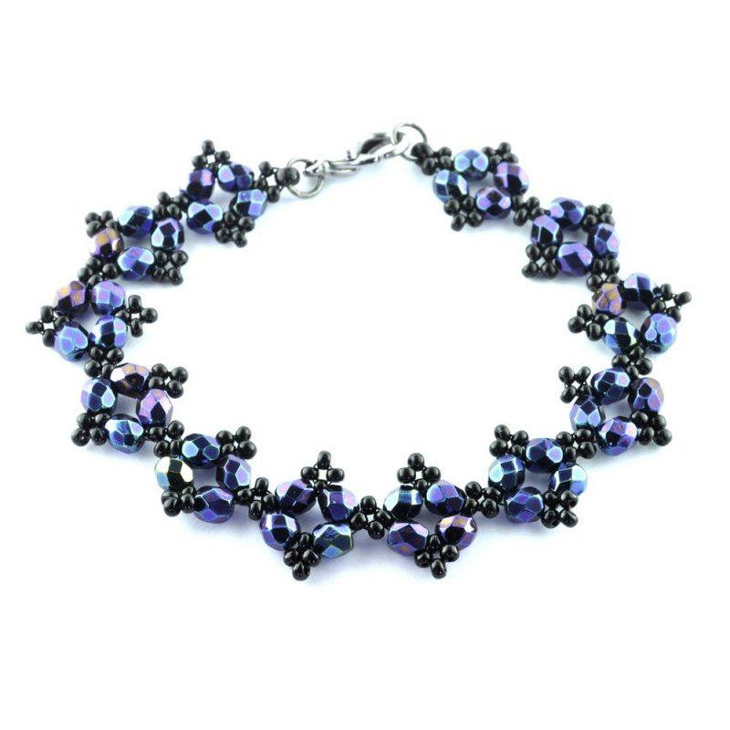 RAW Embellished Bracelet Kit - Iridescent Blue
