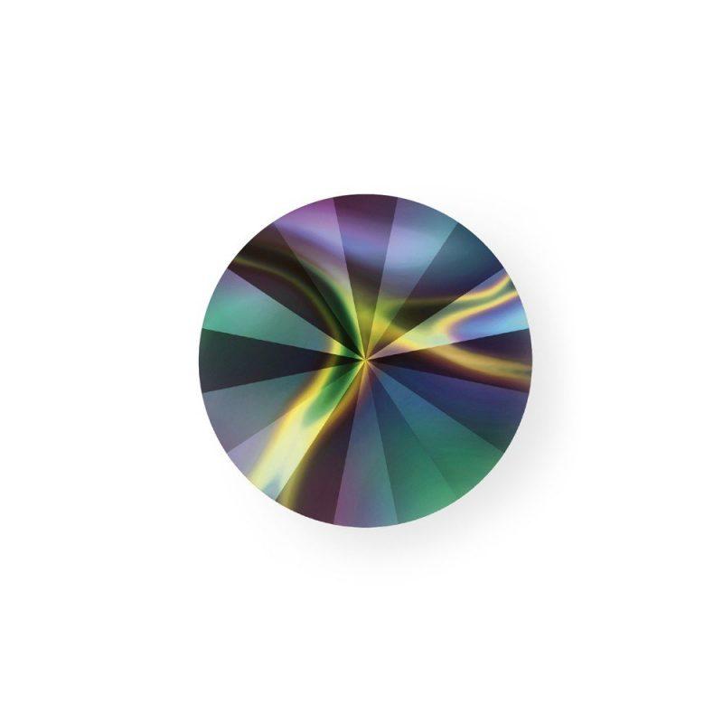 Swarovski Foiled Rivoli Rainbow Dark