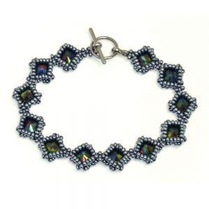 Netted Rivoli Diamond Bracelet Kit - Rainbow Dark