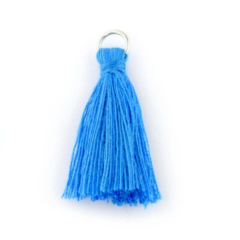 25mm Blue Tassel with loop